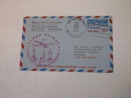 USA  First Flight Cover To Germany New York - London - Frankfurt 1959 - Sin Clasificación