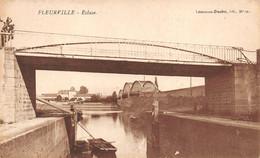 Fleurville Pont De Vaux Montbellet Saint Oyen écluse Canal Thème Péniche Péniches - Andere Gemeenten