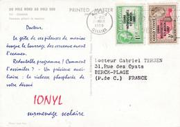 GOLD COAST COTE D'OR  Divers Surchargés Ghana 1957 Sur Carte Ionyl . CaD Accra. Pole Nord Et Pole Sud   Femme Pilant - Goldküste (...-1957)