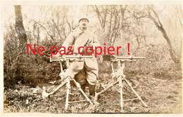 PHOTO FRANCAISE Du 322e RIT - SERGENT ET MITRAILLEUSES A CAPPY PRES DE BRAY SUR SOMME - SUZANNE - GUERRE 1914 1918 - 1914-18