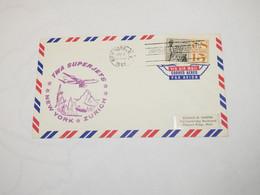 Usa  First Flight Cover To Switzerland  New York - Zurich 1961 - Sin Clasificación