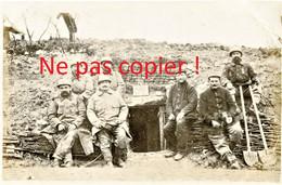 PHOTO FRANCAISE - POILUS DU 322e RIT A L'ABRI N°3 A FONTAINE LES CAPPY PRES CHUIGNES - FAY SOMME GUERRE 1914 1918 - 1914-18