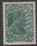 Liechtenstein 1918 Regierungsjubiläum 1v ** Mnh (51266) - Unused Stamps