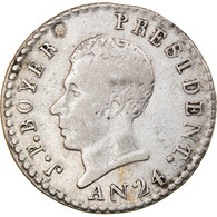 Monnaie, Haïti, Jean-Pierre Boyer, 25 Centimes, An 24 (1827), TTB, Argent - Haiti