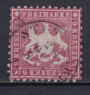 WÜRTTEMBERG - YT N° 24 OBLITERE SIGNE - DENTELE 10 - COTE = 1000 EUR. - - Wurtemberg