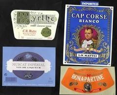 CORSE .11 étiquettes De Vins , Alcools Et Liqueurs De L.N. MATTEI . Société Des Vins Du Cap Corse. Bastia. - Other