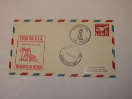 USA  First Flight Cover To Mexico  Chicago - Acapulco 1966 - Sin Clasificación