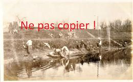 PHOTO FRANCAISE - POILUS A LA LESSIVE A FROISSY A LA NEUVILLE LES BRAY PRES DE CAPPY SOMME - GUERRE 1914 1918 - 1914-18