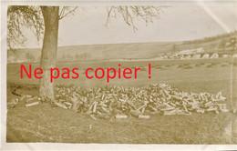 PHOTO FRANCAISE - DEPOT DE DOUILLES D'OBUS ENTRE CHUIGNOLLES ET BRAY SUR SOMME - GUERRE 1914 1918 - 1914-18