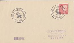 Suéde, Lettre Imprimé Obl. Gällivare (Renne) Le 22/3/62 Sur N° 460 (Gustave VI) - Briefe U. Dokumente