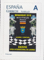 CHESS STAMP/SELLO DE ESPAÑA - XXXVIII OPEN BENASQUE 2018 -  TEMA AJEDREZ CHESS ÉCHECS SCHACH - ESCASO - Ajedrez
