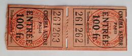 2 Tickets Billets Cinéma Astor Paris - Années 1940 - Tickets - Entradas