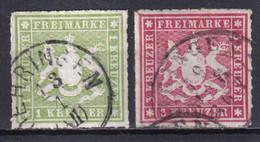 WÜRTTEMBERG - YVERT N° 30/31 OBLITERES - COTE = 16 EUR. - - Wuerttemberg
