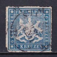 WÜRTTEMBERG - YVERT N° 32 OBLITERE SIGNE CALVES - COTE = 75 EUR. - - Wuerttemberg
