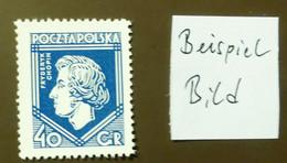 Polen 1927  Mi-Nr. 244 Frédéric Chopin  Komponist  Postfrisch ** MNH   #5428 - Unused Stamps