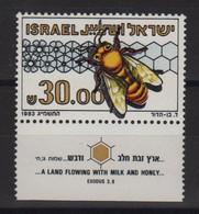 Israel - N°863 - Faune - Abeille - Cote 4€ - ** Neuf Sans Charniere - Nuevos (con Tab)