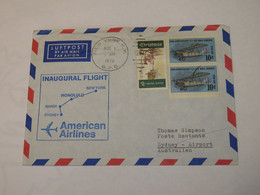 USA  First Flight Cover To Australia New York - Honolulu - Nandi - Sydney 1970 - Sin Clasificación