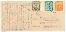 EGYPT 1920 Definitives 1M-3M Beautifully Three-Colours-Postage To CZECHOSLOVAKIA - 1915-1921 Protectorado Británico