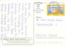 BRD / Bund BZ 80 MWST 2001 München Stadt Weltberühmter Biere Wappen ATM Automatenmarke Mi. 3 Type 3 Posthorn - Cartas