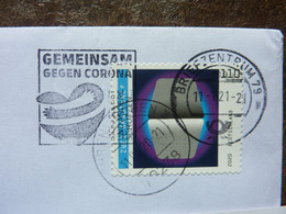 2020 Gemeinsam Gegen Corona Used On A Letter - Used Stamps