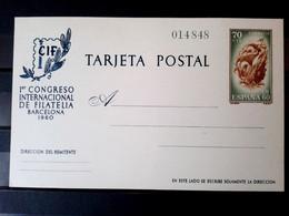 España 1960 - Entero Postal Edifil 88** - 70 Céntimos Congreso Internacional Filatelia - 1931-....