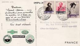 SAINT MARIN SAN MARINO :  Garibaldi  Sur Carte Plasmarine Ionyl  San Marino 1951 Le Rocher - Briefe U. Dokumente