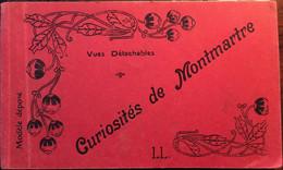 Carnet 12 Cpa, Curiosités De Montmartre (Sacré Coeur, Funiculaire, Rue St Vincent, Del Sarte Animées, Chat Noir Etc - Distretto: 18