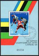 BULGARIA 1984 Winter Olympic Games Block Used. .  Michel Block 140 - Blocks & Sheetlets