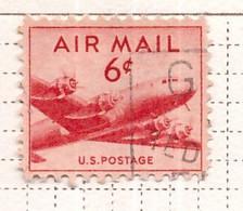 PIA  - STATI UNITI : 1947-49 - Francobollo Di Posta Aera - Aereo Douglas DC-4 - (Yv P.A. 35) - 2a. 1941-1960 Usados