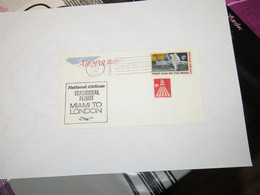 USA  First Flight Cover To United Kingdom  Miami - London 1970 - Sin Clasificación