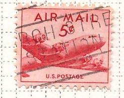 PIA  - STATI UNITI : 1947-49 - Francobollo Di Posta Aera - Aereo Douglas DC-4 - (Yv P.A. 34) - 2a. 1941-1960 Usados