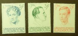 Luxemburg 1939  Mi-Nr. 339 -41 Aus Block 3 Falz * #5431 - Unused Stamps