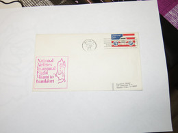 USA  First Flight Cover To Germaney  Miami - Frankfurt  1980 - Sin Clasificación