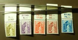 Luxemburg 1932  Mi-Nr. 245 -49    Postfrisch ** MNH  #5432 - Unused Stamps