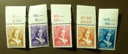 Luxemburg 1933  Mi-Nr. 252 -56    Postfrisch ** MNH  #5432 - Unused Stamps