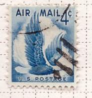 PIA  - STATI UNITI : 1954-58 - Francobollo Di Posta Aera - Aquila Calva - (Yv P.A. 47) - 2a. 1941-1960 Usados