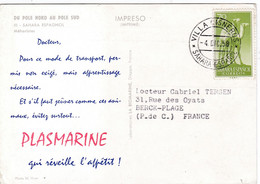 ESPAGNE SAHARA ESPAGNOL   :  Divers Sur Carte Plasmarine  . CaD De Villa Cisneros Sahara Espagnol . Méharistes - Sahara Español
