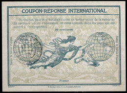 FRANCE 1913, Ro3 30 Centimes. International Reply Coupon Reponse IAS IRC Antwortschein O LYON ST. JEAN RHONE 14.04.14 - Coupons-réponse