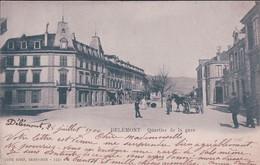 Delémont JU, Quartier De La Gare, Attelage (1031) Pli D'angle - JU Jura