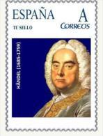 HANDEL (1685-1759) CORREOS SPAIN - THEME MUSICA MUSIQUE MUSIC MUSIK - TU SELLO PERSONALIZADO - Música