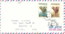 ELFENBEINKÜSTE 1962 Elefanten 25 F Und 30 F Auf Pra.-Luftpostbrief Nach USA - Costa De Marfil (1960-...)