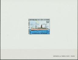 """ELFENBEINKÜSTE 1990, Tag Der Briefmarke, Frachtschiff """"Afrique"""" 155 F.   Selt. Epreuve De Luxe Probedruck - Costa De Marfil (1960-...)"""