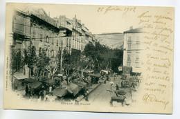 83 TOULON Le Marché Place écrite En 1902  Timbrée    D11 2017 - Toulon