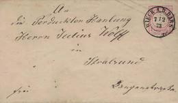 Wiek An Der Dars 1873 > Perdukten Hanlung Julius Wolff Stralsund - Lettres & Documents
