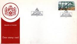 Transkei. Carte. Abattage Des Arbres. Foire Exposition De Johannesbourg 1983. Cachet à Date Illustré De Grumes - Cartas