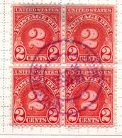 PIA  -  U.S.A.  : 1930 - Segnatasse - Cifra  - (Yv Tasse 46 X 4) - Used Stamps
