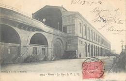 CPA 30 Gard Nimes La Gare Du P. L. M. - Nîmes