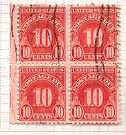 PIA  -  U.S.A.  : 1930 - Segnatasse - Cifra  - (Yv Tasse 49 X 4) - Used Stamps