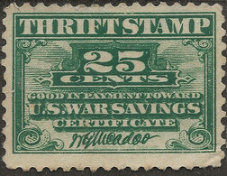 United States 1917 SC WS1 25c Thrift Stamp War Savings Mint MH USA - Autres