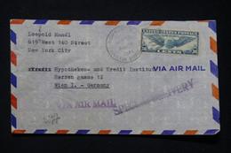 ETATS UNIS - Enveloppe De New York Pour Wien ( Allemagne)  En 1941 Avec Contrôle Postal Allemand - L 89611 - Cartas